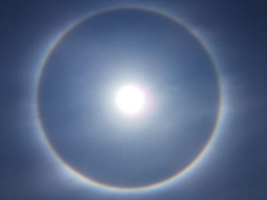 Fenomeno De Halo Solar Se Ha Apreciado Durante Este Lunes